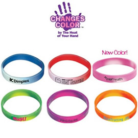 Mood Bracelets change color with the heat of your hand!