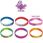 Promotional Color Changing Mood Bracelets with Custom Imprint