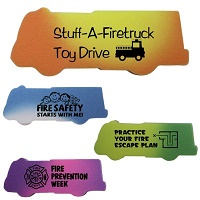 Fire Truck Die Cut Mood Eraser