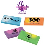 Mood Erasers that Change Color