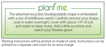 Plantable Card Instructions