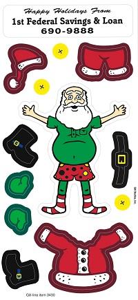Dress Up Santa Peel n Play Stickers