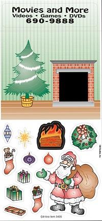 Santa Down the Chimney Peel n Play Stickers