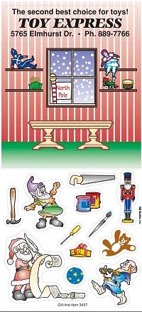Santa's Workshop Peel n Play Stickers