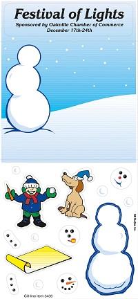 Snowman Peel n Play Stickers