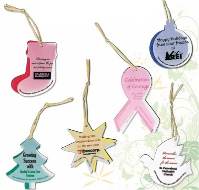 Personalized Seed Paper Christmas Ornament Shapes