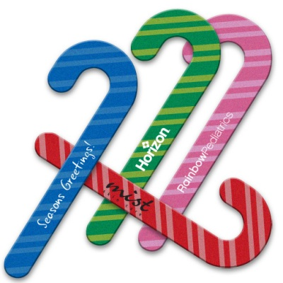 Candy Cane Shaped Seasonal Emery Boards