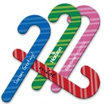 Candy Cane Shaped Emery Boards