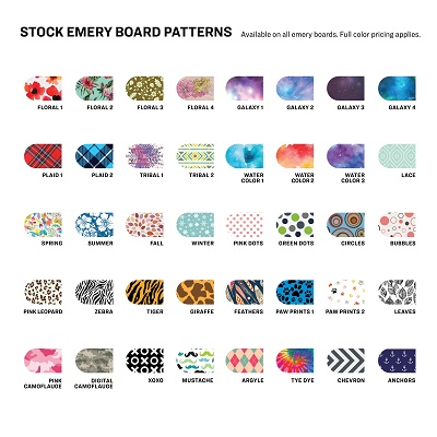 Stock Design Regulat Emery Board Imprints