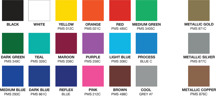 Ornament Emery Board Color Chart