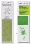 Recipe Bookmarks with Seeded Paper
