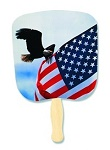 Imprinted Handfans - Patriotic Hand Fans