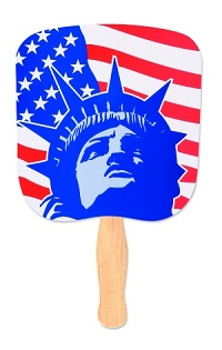 Lady Liberty Patriotic Hand Fan