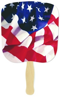 Patriotic Flag Hand Fan