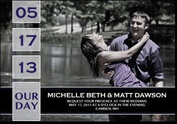 "4-7/8"" x 3-3/8"" Wedding Date Saver Magnets"