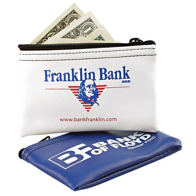 Custom Printed Vinyl Coin Bags