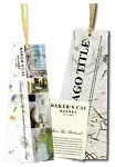 Full Color Personalized Raffia Tie Seeded Paper Bookmarks