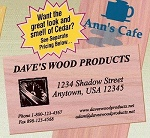 Cedar Wood Business Card