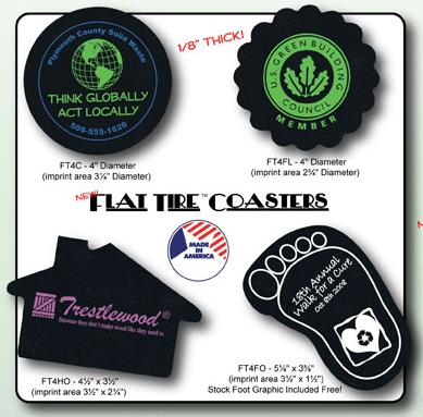 Recycled Tire Coasters