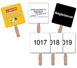 Numbered Auction Hand Signs | Custom Printed