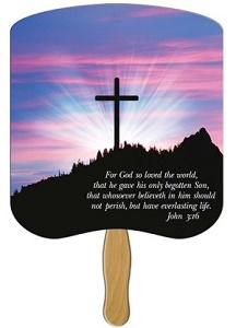 John 3:16 Heavy Duty Church Fan
