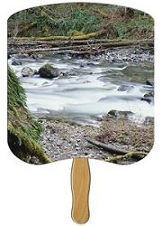 Creek Scenic Hand Fan