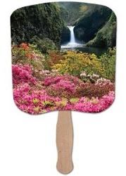 Flower Garden Scenic Hand Fan