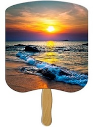 Sunset Scenic Hand Fan