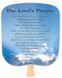 The Lord's Prayer Hand Fan