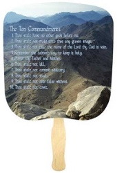 Ten Commandments Church Fan