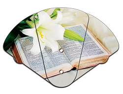 Bible Inspirational Four Part Expanable Hand Fan