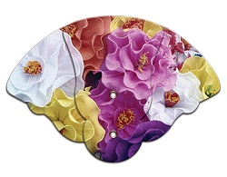 Bouquet Inspirational Four Part Expanable Hand Fan