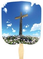 Cross Inspirational Hand Fan