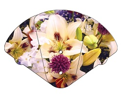 Lily Bouquet Inspirational Four Part Expanable Hand Fan
