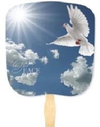 Peace Inspirational Handheld Fan
