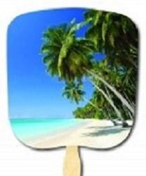 Beach Scene Hand Fan