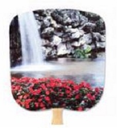 Calm Pool Scenic Hand Fan