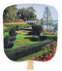 Formal Garden Still Life Hand Fan