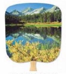 Mountain Reflection Paper Fan