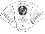 Wedding Hand Fans - Expandable Curved Fan - Many Styles and Shapes available