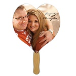 Wedding Hand Fans - Heart Shaped Fan - Many Styles and Shapes available
