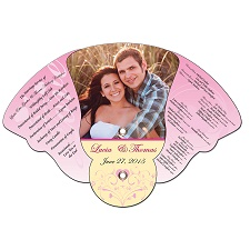 Wedding Four Part Bell Expanable Hand Fan
