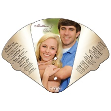 Wedding Four Part Expanable Hand Fan