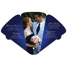 Large Wedding Four Part Expanable Hand Fan