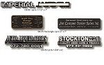 Stock & Custom Design Auto Nameplates