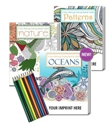 Gift Pack which includes all 3 Stress Relieving Coloring Books