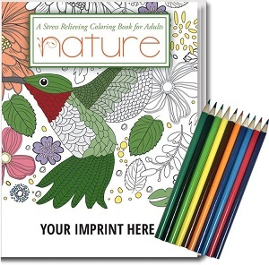 Adult Coloring Book Relax Pacckage Gift