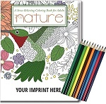 Imprinted Adult Coloring Books - Gift Pack