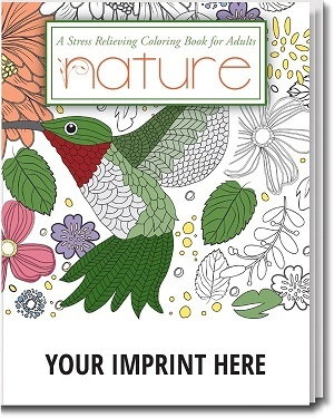 Adult Coloring Book with Nature Themes