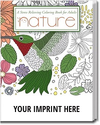 Nature Themed Adult Coloring Book